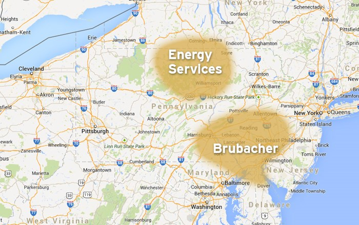 Our Reach | Brubacher Excavating, Pad Site Construction, Drilling