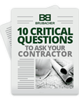 10 Questions to ask your contractor
