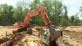 Brubacher excavating at Highgate project in Lehigh County, Upper Macungie Township, PA