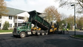 Brubacher paving at White Horse Village, Delaware County, Newtown Township, PA